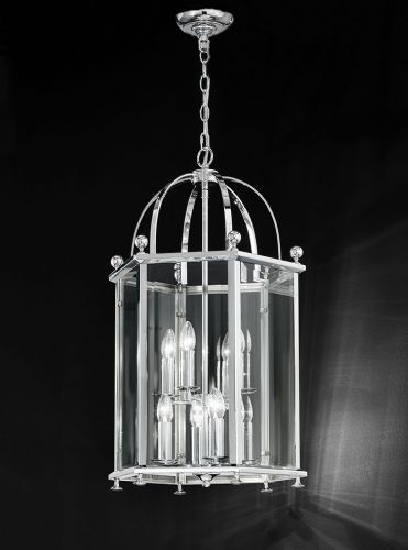Franklite LA7008/8 Chrome Pendant Light